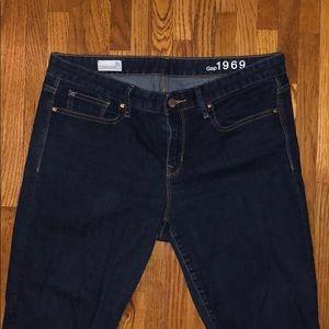 Dark Long Stretchy Skinny Jeans
